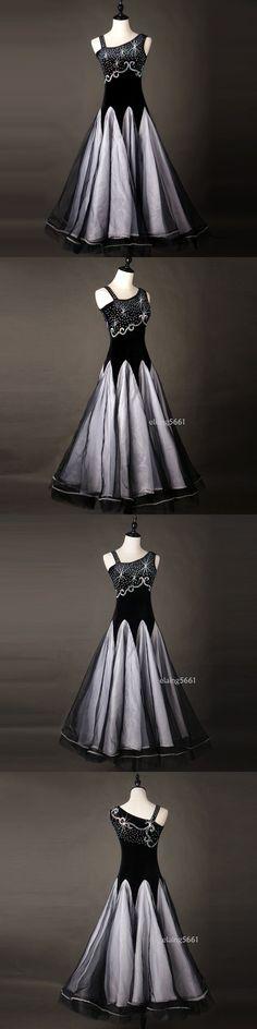 Ballroom 152361: Ballroom Dance Dress Tango Modern Waltz Standard Competition Black Dress M150a -> BUY IT NOW ONLY: $66 on eBay!