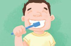Por volta dos 5 anos, dá para entregar a escova nas mãos da criança, mas é preciso verificar depois se a limpeza foi realizada corretamente. É nessa idade também que o uso de pastas de dente com flúor passa a ser mais seguro.