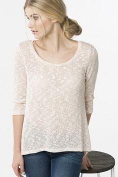 Ivory crochet back shirt - New Arrivals