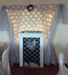 Caminetto finto tipica decorazione del natale