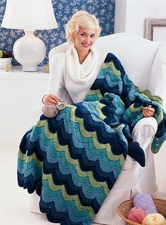 This is one of the easiest and most beautiful patterns. The Ocean Waves Throw by Marianne Forrestal is a beautiful throw for anyone who loves the ocean. Really cute stitch and the colors are gorgeous! This beautiful blanket is worked in Red Heart Super Saver Solids and the approximate size is 42″/106.5cm wide x 67″/170cm …