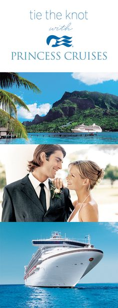 Princess Cruises Tie The Knot Program! Let C2C Travels coordinate your destination wedding travel. We can help you make your dreams realities! info@c2ctravels.com or 2744.mtravel.com