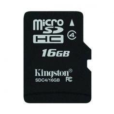 KINGSTON Karta Pamięci microSDHC 16GB bez adaptera  Świetnie. W końcu masz już urządzenie umożliwiające uzyskanie wysokiej jakości zdjęć i filmów wideo, a miejsce na ich zapisanie kończy się zanim zdążysz o tym pomyśleć
