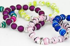 Beaded bracelet features a pewter ribbon surrounded by colorfast acrylic beads available in many different cancer awareness colors. Ovarian Cancer Awareness, Jewelry Crafts, Jewelry Ideas, Head And Neck, Acrylic Beads, Holiday Gift Guide, Special Gifts, Diys, Jewelery