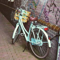 Bikes of Amsterdam.  Spotted on our Amsterdam study tour by @saratirrito