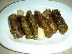 Rolled grape vine leaves with aromatic rice; Yaprak Sarma | Ozlem's Turkish Table
