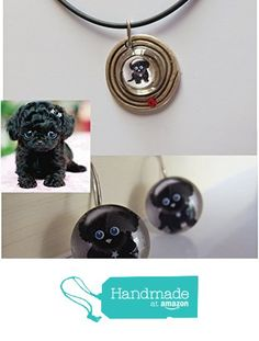 Collar para mujer con dibujo de cachorro de perro, realizado por mi en diseño gráfico e impresión en papel fotográfico. de Joyería y Bisutería artesanal Oscurarosa https://www.amazon.es/dp/B01KSXW5Q0/ref=hnd_sw_r_pi_awdo_R-8rybE02HA6Q #handmadeatamazon