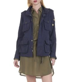 REIKO NAVY ARMY MILITARY JACKET WITH POCKETS - WOMEN Eshop | Place des Tendance