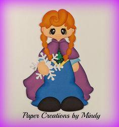Craftecafe Mindy Girl Princess Frozen dress up premade paper piecing scrapbook