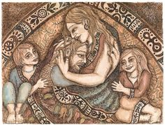 PRINT Tendering the Wounded Ones Within by lucypierce on Etsy