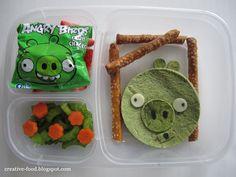 Angry Birds Pig Bento
