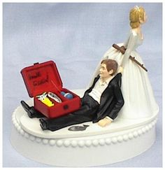 awesome How to Décor A Funny Fishing Wedding Cake Toppers