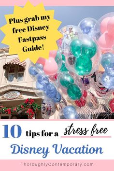 10 Tips for a Stress Free Walt Disney World Vacation - Thoroughly Contemporary Disney World Tickets, Disney World Vacation Planning, Disneyland Vacation, Disney World Florida, Walt Disney World Vacations, Disney Planning, Trip Planning, Disney Travel, Disney Parks