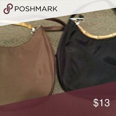 Women's bags Bamboo adjustable straps one black n one brown $8 For Both. Bags Crossbody Bags