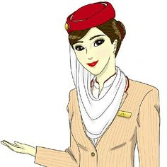 Emirates Stewardess drawing @cee_caw_ceen