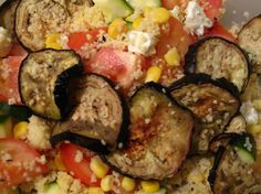 Aubergine Feta Salad