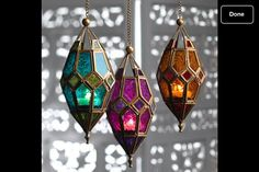 Tea light hanging Moroccan lamps...thanks eBay