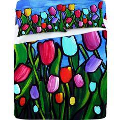 Renie Britenbucher Tulips Sheet Set
