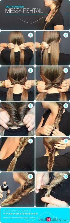 Messy Fishtail Braid Tutorial