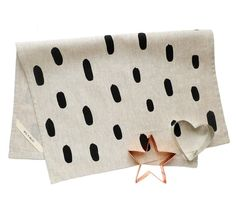 Black Brushstroke Tea Towel