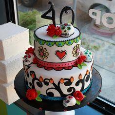 LOVE THIS! Dia de los muertos cake
