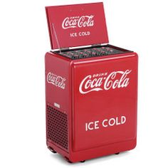 Classic Coca-Cola Refrigerated Chest-- going in my bedroom