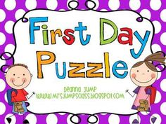 First Day of School Activity! This will be perfect even for our BIG 3rd graders! :) This handprint puzzle activity makes a great keepsake and gives the parents a reason to sit with their child and hear all about their first day of school!