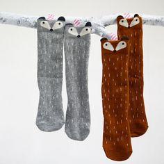 Jo Mami | Los calcetines de zorrito más buscados! Racoon Socks en Jo! Mami Kids | http://www.jomamikids.com/blog