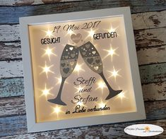 Illuminated picture frame gift WEDDING – Other – Wedding – Handmade with love in Herscheid, Germany by Perfect Puschen and Gift Ideas Ceremony Dresses, Wedding Ceremony, Indian Marriage, Marriage Dress, Muslim Brides, Pakistani Wedding Dresses, Diy Design, Floral Style, Picture Frames