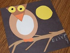 Practice shape recognition w/ this owl craft version.