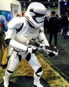 We would like to thank the real security @CES   ! Very impressed with the 3D-printed Stormtrooper that took command of the show. #CES2016#StarWars#3DPrinting by polkaudio
