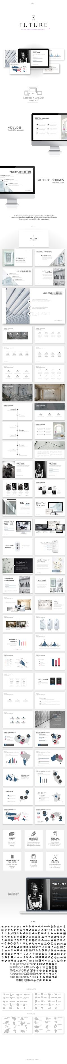 Future 2.0 - Minimal Powerpoint Template - PowerPoint Templates Presentation Templates