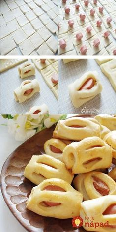 56 Gorgeous from Each Other of Homemade Pastries, Easy Food Decorations - Delicious Food Kids Pastry Recipes, Cooking Recipes, Kids Meals, Easy Meals, Sausage Bread, Pastry Design, Bread Shaping, Homemade Pastries, Flaky Pastry