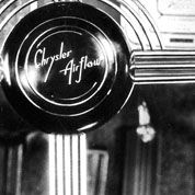 The Art Deco Movement so boldly imbued in the Chrysler Building found life in much the 1934 Airflow's design, from its cascading front grill to the chrome Deco motif of its steering wheel Chrysler Airflow, Front Grill, Art Deco Movement, Chrysler Building, 1920s Art Deco, History Books, Mopar, Love Art, Innovation