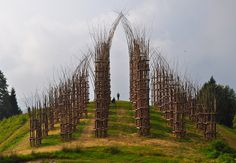 At the base of Mount Arera in Nothern Italy has just moved up to the top of my travel bucket list. It is where Italian artist Giuliano built this living cathedral MauriCattedraleVegetale3