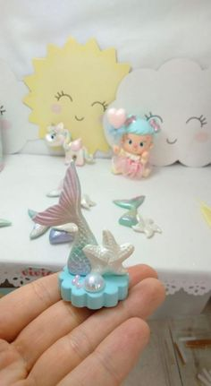 Fondant Cupcakes, Fun Cupcakes, Fondant Seashells, Clay Magnets, Little Mermaid Parties, Mermaid Cakes, Cute Clay, Polymer Clay Dolls, Fondant Figures
