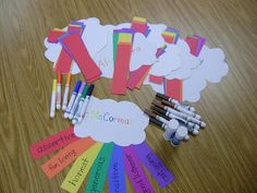 For the culminating activity for my first grade girls group with the goal to identify qualities of positive friends I adapted the idea. Friendship Crafts, Friendship Lessons, Friendship Theme, Friendship Activities, Friend Activities, Social Skills Activities, Counseling Activities, Group Counseling, School Counseling