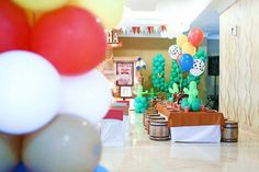 Dining Table + Partyscape from a Little Cowboy Birthday Party via Kara's Party Ideas | KarasPartyIdeas.com (16)