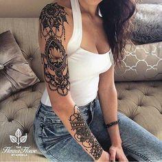 Bild Tattoos, Neue Tattoos, Body Art Tattoos, Cool Tattoos, Henna Tattoos, Cutest Tattoos, Best Sleeve Tattoos, Sleeve Tattoos For Women, Henna Tattoo Designs