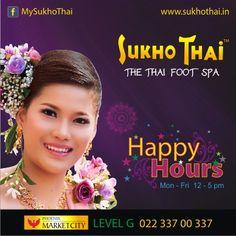Happy hours to make your feet happy at Sukho Thai, Phoenix Marketcity Kurla Mumbai #Spa