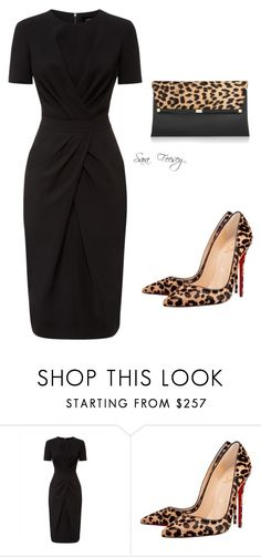 """Untitled #133"" by sara-elizabeth-feesey ❤ liked on Polyvore featuring Jaeger, Christian Louboutin and Diane Von Furstenberg"