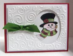 Snowman card. Another simple card with big impact.