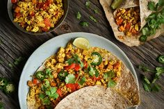 Loaded with sweet potatoes, peppers, and onions, this plant-based breakfast burrito makes uses tofu as a filling and is extra-tasty and packed with nutrients. Plant Based Diet, Plant Based Recipes, Supper Recipes, Whole Food Recipes, Vegetarian Recipes, Healthy Recipes, Healthy Food, Yummy Food, Small Pasta