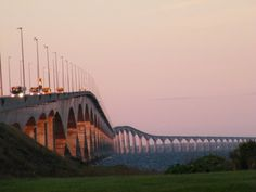 Confederation bridge N.B to PEI  First time in 1999, next time 2003 with Gma