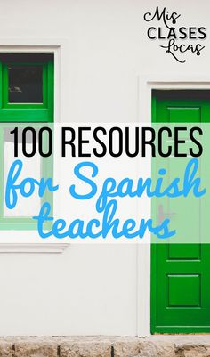 100 Resources for Spanish teachers 100 Resources for Spanish teachers - Mis Clases Locas Spanish Lessons For Kids, Spanish Basics, Spanish Teaching Resources, Spanish Lesson Plans, Spanish Activities, Spanish Language Learning, Spanish Games, Listening Activities, French Lessons