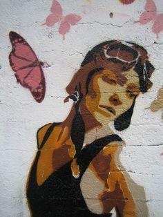 Street art by Btoy - Centre cívic Guinardó, Barcelona, Spain
