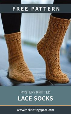 Make a set of these simple and warm knitted lace socks perfect for daily wear. This easy knitting pattern comes with a free Knitting Using Double Pointed Needles. Knitting Blogs, Easy Knitting, Knitting Socks, Knitting Projects, Knitted Socks Free Pattern, Knit Socks, Knitted Booties, Knitted Headband, Mystery
