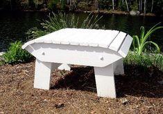 Adirondack Footstool Plans DWG files for CNC by TheBarleyHarvest