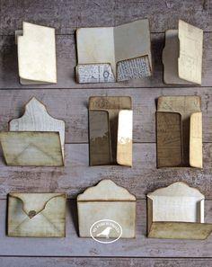 Mini Envelopes File Folder Pocket Letter Kit Card Junk   Etsy