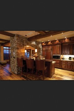 I love the look and feel of this kitchen...one of my dream kitchen ideas